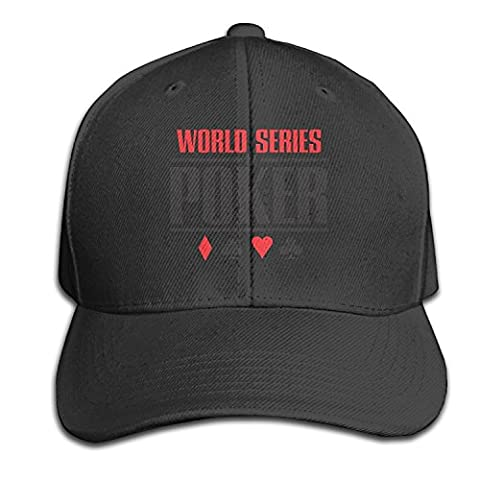 Unisex World Series Of Poker Logo Adjustable Hat Snapback Peaked Cap - Black