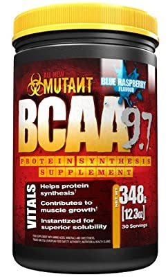 MUTANT BCAA 9.7 Supplement BCAA Powder with Micronized Amino Acid and Electrolyte Support Stack by Mutant