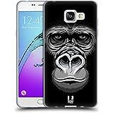 Head Case Designs Grand Gorille Grand Visage Illustré 2 Étui Coque en Gel molle pour Samsung Galaxy A5 (2016)