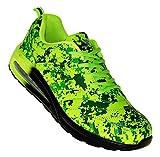 Bootsland 649 Neon Luftpolster Turnschuhe Sneaker Sportschuhe, Schuhgröße:42