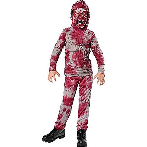 Gruseliges Zombie Kinderkostüm für Halloween - 2-teiliges Set - Gr. M (128, 5-7 Jahre)