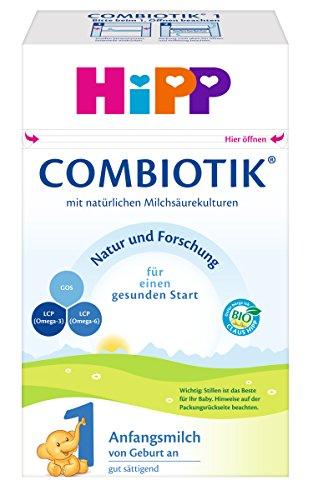 Hipp Bio Combiotik 1 Anfangsmilch - von Geburt an, 4er Pack (4 x 600g)