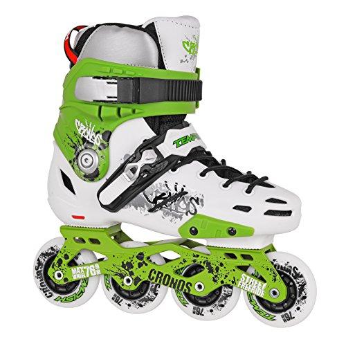 TEMPISH® CRONOS Inline Skates | Street Skates | Inliner | Inline Blades | Aluminiumschiene | ABEC7 Chrome Kugellager | Freestyle SHR PU 85A Rollen | Größen 38-46, Tempish Größe:40, Tempish:Green