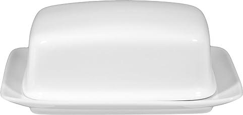 Rondo Butterdose aus Porzellan weiß