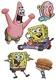 Unbekannt 5 tlg. Set: Fensterbilder / Sticker - Spongebob Schwammkopf - Fensterbild Aufkleber für Kinderzimmer - Jungen Mädchen Seestern Robert Patrick Gary Kinder - Wa..
