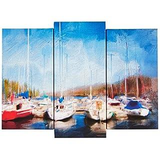 Group Asir LLC 3PaTDACT Shining - 32 Led Illuminated Decorative Painting Canvas, Multi-Colour