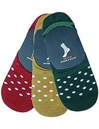 Montebello Unisex Cotton Ankle Socks (Set of 3, Multi-Coloured)