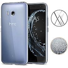HTC U11 Hülle, TopACE® TPU Hülle Schutzhülle Crystal Case Durchsichtig Klar Silikon transparent für HTC U11 (Transparent)