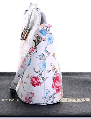 o protettiva spalla struzzo custodia o piccolo effetto morbido attraversare borsetta nbsp;Include marca bianco corpo Floreale una Vero cuoio il italiano 1XPqtat