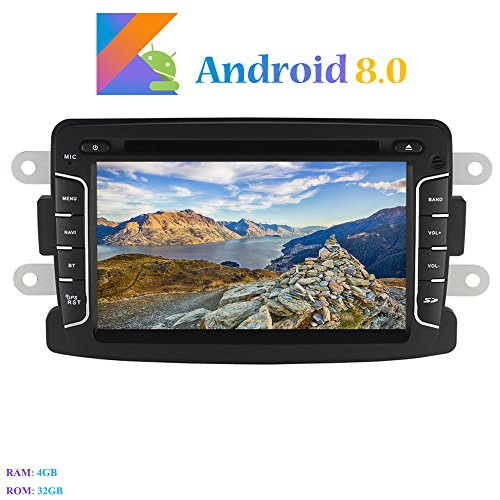 Android 8.0 Car Autoradio, Hi-azul In-dash 1 Din 8-Core 64Bit RAM 4G ROM 32G Car Radio 7