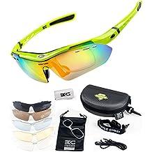 FreeMaster - Gafas de ciclismo con lentes polarizadas, gafas de sol para deporte, antiniebla, protección UV400, para conducir motocicletas, bicicletas de montaña, senderismo, verde