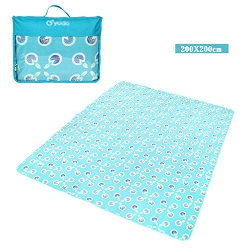 wysm Tappetino anti-umidità 200x200 centimetri panno morbido tessuto ispessimento tappetino esterno tappetino da pic-nic outdoor ( Colore : Fruit green ) Azzurro