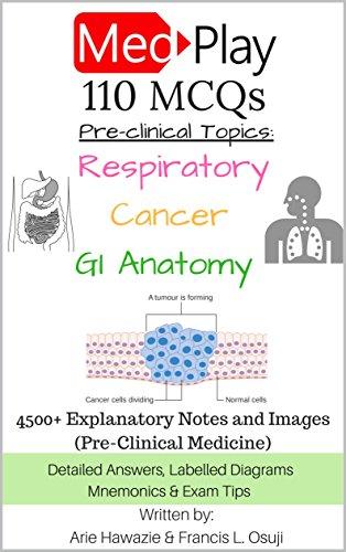 MedPlay 110 MCQs - Respiratory, Cancer & Gastrointestinal (GI) Anatomy:  4500+ Explanatory Notes and Images (Pre-Clinical Medicine) (MedPlay MCQs  Book