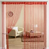 #9: Exporthub Beautiful Maroon Color Threads String Curtains - 4x9 Feet, (EHSPR559_94)