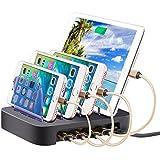 YM-UD01 24W Universal Detachable 4-Port USB Charging Dock Docking Station, For Phones & Tablets, US Plug, UK Plug, EU Plug, AU Plug(Black)