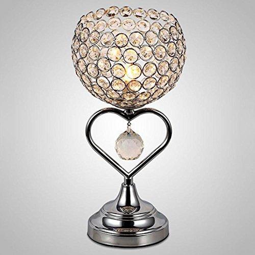 OOFAY LIGHT® Kristall Tischlampe Chrom-Finish Metall Base dekorative Zimmer Licht mit K9 Kristall herzförmige Schreibtischlampe für Hochzeit Dekoration Esstisch