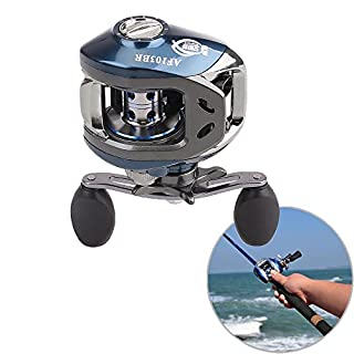 aokur Baitcaster Fishing Reel, 11BB 6.3:1 10+1 Shielded Bearings Baitcaster Right Hand For Casting Rod (Silvery&Blue)