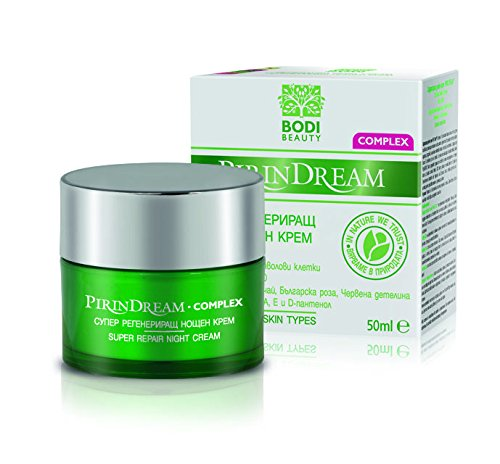 Super Rich Repair (Super Repair Anti-Wrinkle Night Cream with PhytoCellTecTM Apple Stem Cells, Matrixyl, Mursala Tea, Bulgarian Rose & Red Clover Extracts 50ml by Pirin Dream)