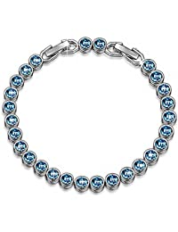 Susan Y Ocean Dream Tennis Bracelet Women with Swarovski Crystals, Patent Design, Elegant Jewellery Box Every Special Moment