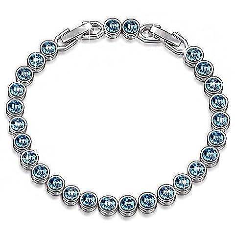 LADY COLOUR Ocean Reve Collier Femme cristaux de Swarovski bleu