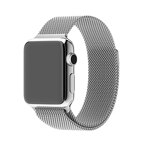 Pandiki Magnetic Milanese Loop-Uhrenarmband-Metall überzog Abdeckung für Apple-Uhr