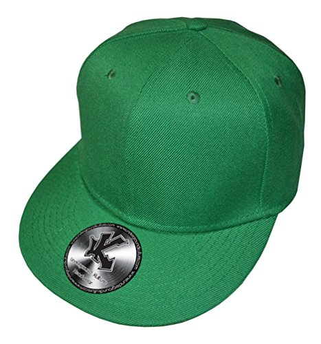 New Uni grün Fitted Flat Cap Peak 7 1/8