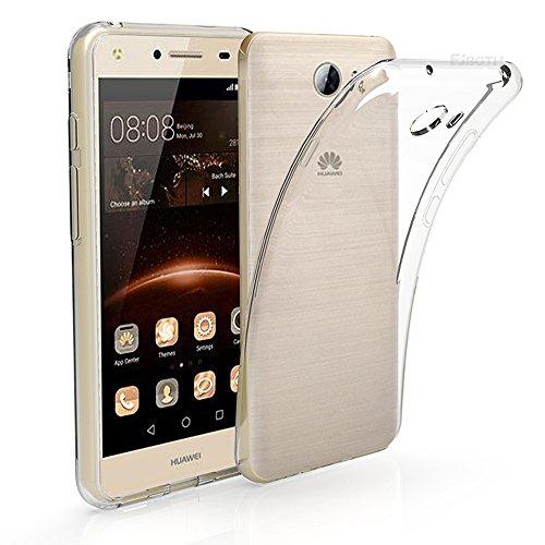 EJBOTH Huawei Y5 II/ Huawei Y5 2 / Huawei Y6 II Compact / Huawei Y6 II Mini Hülle Case hoch transparente Schutzhülle aus TPU Material, komplett Schutz gegen Stoß, Kratzer und Risse [Non Y6]