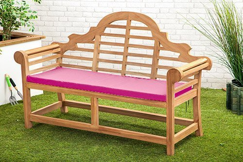 Wasserabweisend Lutyens Gartenbank Kissen in pink–Kleine