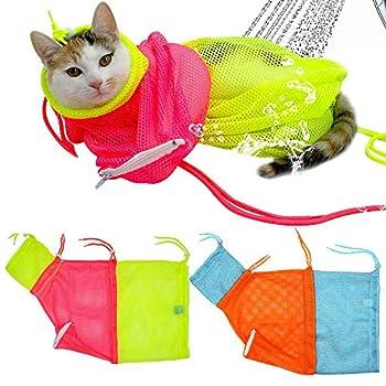 Eizur Pet Chien Chat Toilettage de Bain et Lavage Sac de Transport pour Animal Domestique, Sac en Maille Réglable en Polyester