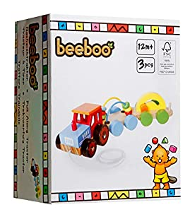 VEDES Großhandel GmbH - Ware Beeboo Madera Tire Junto Tractor con 2Etiquetas