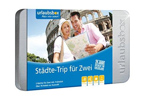 Preisvergleich Produktbild Reisegutschein für Städtereise - Urlaubsbox 'Städtetrip für Zwei' - 2 Nächte für 2 Personen inkl. Frühstück