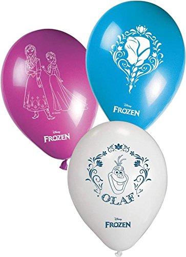 Unique Party Partido Ênico de 11 Pulgadas de Disney congelados Globos (Rosa / Azul / Blanco)