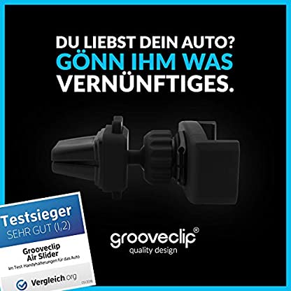 grooveclip-AIR-Slider-2-Universal-Handyhalterung-fr-Lftungsgitter-im-Auto-verbessertes-Modell-2018-Jetzt-mit-integrierter-Handy-Ladekabel-Halterung-und-matt-schwarzer-Silk-Oberflche
