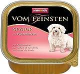 animonda Vom Feinsten Senior Nassfutter, für ältere Hunde ab 7 Jahren, mit Putenherzen (22 x 150 g)