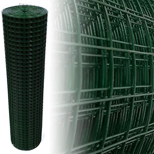 Volierendraht Grün 25x25mm Maschendraht 4-Eck Drahtgitter (100cm x25m, 1,45mm)