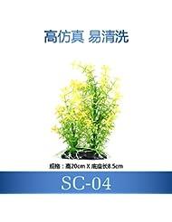 JXC-Aquarium Aquarium décoration décoration décoration simulation de la plantes de l'eau,20cm,green