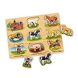 Melissa&Doug 10268 Classic Farm Sound Puzzle, Assorted