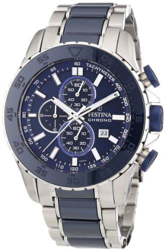 Festina - F16628/2 - Montre Homme - Quartz - Chronographe - Chronomètre/Aiguilles Luminescentes - Bracelet Acier Inoxydable Bleu