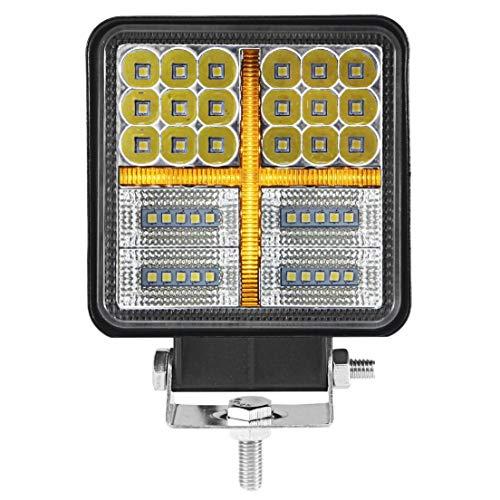 SODIAL 38W 4500LM Baccelli per Fari da Lavoro Un LED Lampada da Guida Combinata da Incasso per Camion SUV Fuorist