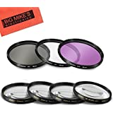55mm Multi-Coated 7 Piece Filter Set Includes 3 PC Filter Kit (UV-CPL-FLD-) And 4 PC Close Up Filter Set (+1+2+4+10) For Sony Alpha SLT-A33, A35, A55, A58, A65, A77, A99, A3000, A5000, A5100, A6000, DSLR330L, A7, A7II, A7R, A7S, NEX-5T, NEX-6, NEX-7K, NEX-3N, NEX-F3 Digital SLR Cameras Which Has Any Of These Sony Lenses 16-70mm, 18-55mm A-Mount, 18-70mm, 28-70mm, 55-200mm, 35mm f/1.4G A-MOUNT, 35m