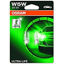 OSRAM ULTRA LIFE W5W idicatore direzione, luci di ingombro, posizione e luce targa  2825ULT-02B - lunga durata - in Blister doppio