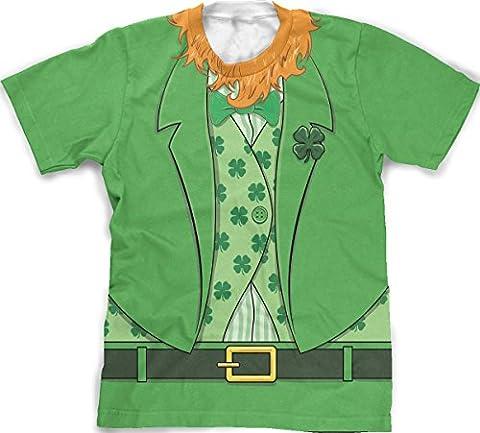Men's bearded Leprechaun T-shirt Funny Saint Patrick's Day Irish Outfit Tee (green) M