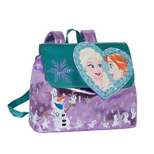 Disney frozen magico cuore - zaino piccolo per bambina- colore:viola