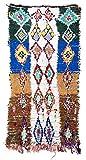 Trendcarpet Tappeto Berberi dal Marocco Boucherouite 250 x 130 cm