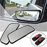 Audew 2 Pack Blind Spot Mirrors, Small Convex Mirrors 360° Rotate HD ABS Glass for All Car SUV Trucks Motorcycle, Stick-on Design