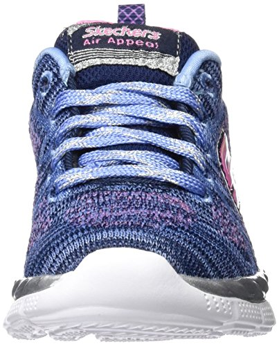 Skechers Air-Appeal-Breezy Bliss, Sneakers Basses Fille Bleu (Nvpw)