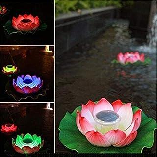 AntEuro Solar Lotus Licht, EONANT Solar Lotus Licht Wasserdichte Schwimmende Lotus Licht Pool Teich Garten Wasser Blume LED für Pool Teich Dekoration Multicolor