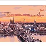 Eurasia Institute Berlin Para Colorear Por Números En Lienzo Pintar Por Números Kit En Lienzo Cuadros Decoración Para El Hogar 40X50CM