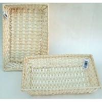 """The Natural Look Flechtweide rechteckig Körbe/trays-set / 3 baskets-sizes 8 """", 10 """", 12 """" (20,25, 30cm) preisvergleich bei billige-tabletten.eu"""