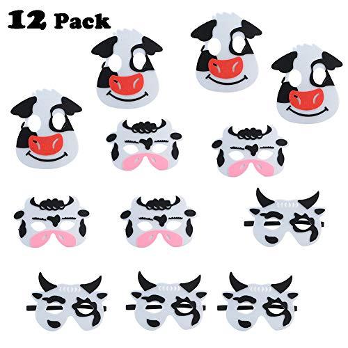 Familien Motto Halloween Kostüm - XHONG 12 Stück Tier-Masken aus Filz,